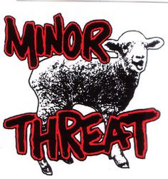 Minor Threat- Sheep sticker (st471) Psychobilly Bands, Minor Threat, Hardcore Music, Band Stickers, Music X, Punks Not Dead, Popular Bands, Picture Postcards, Band Logos