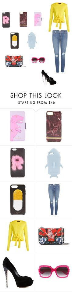 """Trendy Phone Cases..**"" by yagna ❤ liked on Polyvore featuring Kate Spade, Fendi, STELLA McCARTNEY, Chaos, Paige Denim, Dolce&Gabbana, Alexander McQueen, Casadei, Gucci and vintage"