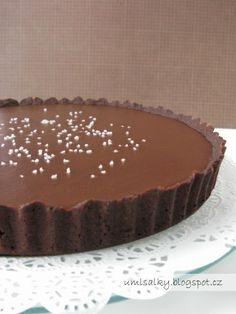 U mlsalky: Čokoládový koláč se slaným karamelem Cheesecakes, Baked Goods, Sweet Recipes, Sweet Tooth, Food And Drink, Pudding, Sweets, Chocolate, Baking