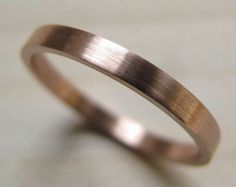 2x1mm Simple Women's Palladium or Gold Wedding Band - Bespoke recycled eco-friendly - Satin or Shiny finish - Stackable