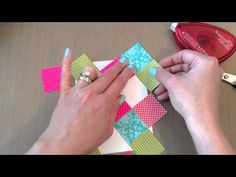 You-Tube cardmaking video ...handmade quilt card tutorial Make It Monday #159 : No-Sew Quilted Cards ... Diamond Quilt for cards from frenchiestamps.com ... France always has lots of great tips! ... Stampin'Up!