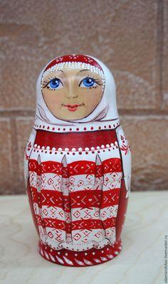 Купить Матрешка - ярко-красный, русский стиль, русский сувенир, подарок, матрешка авторская