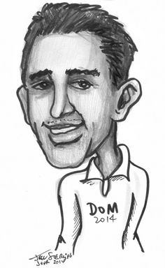 Dom is a reserved business owner near Pembroke Pines (northwest of Miami) Florida. He was a guest at a 2014 party and he enjoyed his caricature by me, Jeff Sterling. His wife thought that the drawing 'captured' his 'real wild' personality!   I entertain at corporate and private parties and events in Southeast Florida between Miami-Fort Lauderdale to Boca Raton and Palm Beach. Visit my Website: FloridaPartyArt.Com