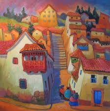 pinturas de paisajes peruanos - Buscar con Google