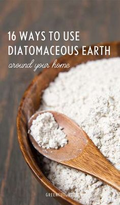 Diatomaceous earth is like the Swiss army knife of natural home care products. Here are 16 clever ways you can use it. Natural Treatments, Natural Cures, Natural Health, Herbal Remedies, Health Remedies, Home Remedies, Diatamaceous Earth, Natural Solutions, Hacks