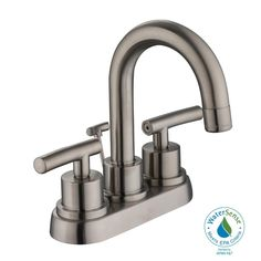 Moen WS84228 Gibson 4 Centerset Bathroom Faucet - Pop-Up Drain ...
