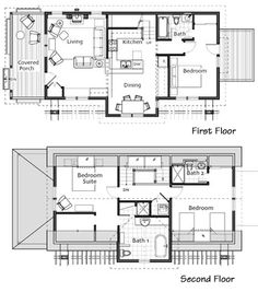 Small house plan small contemporary house plan modern for Arched cabin floor plans