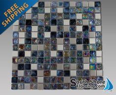 OMG!!!! I found it!!!!! I'm not sure that I will ever find anything more perfect for me. iridescent and stainless tile