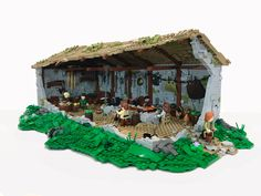 Come take a sneak peak inside of a Viking longhouse, recreated in LEGO by Carter Witz. Jurassic World Set, Lego Jurassic, Casa Lego, Lego Sculptures, Long House, Lego Castle, Lego Room, Lego Storage, Lego Photography
