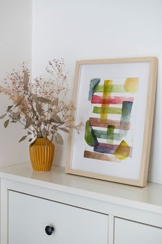 Diy Paper, Our Love, Watercolor Paintings, Make It Yourself, Frame, Handmade, Inspiration, Diys, Home Decor