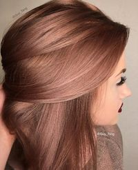 Pink rose gold . New hair colour 2015