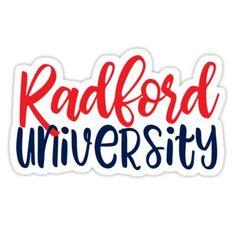 'RU - Radford University' Sticker by dingdesigns Radford University, Transparent Stickers, Sell Your Art, T Shirt, Products, Tee, Tee Shirt