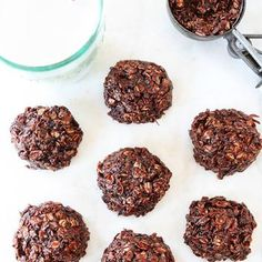 Healthy No Bake Cookies {Vegan & Gluten Free}