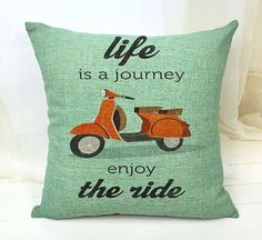 Life is a journey enjoy the ride  Pillow Cover by UniikStuff