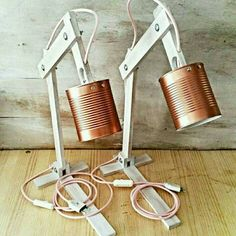 Wood lamp table lamps lamps lighting desk lamps by EunaDesigns Read Full Article Here by luishsoni Wooden Desk Lamp, Copper Table Lamp, Copper Lamps, Table Lamps, Wood Desk, Lampe Tube, Desk Gifts, Simple Desk, Bright Homes