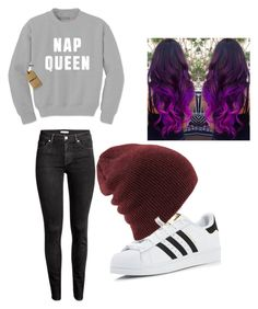 """NAP QUEEN👑"" by nerdypanda777 ❤ liked on Polyvore featuring adidas"
