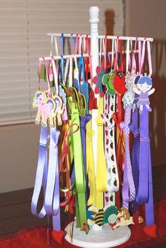 Hair Bow Holder Display Rack