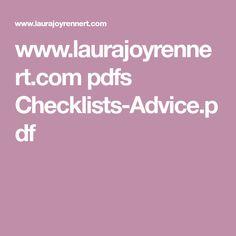 www.laurajoyrennert.com pdfs Checklists-Advice.pdf