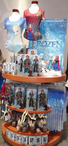 disney frozen merchandise | ... 11, 2013 - Inside the Disney Store - Frozen Collection - Main Display
