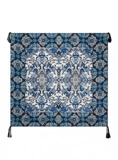 80992828c7953 Flores Scarf Description: Inspired by the gorgeous hand painted tiles from  Morocco, this blue