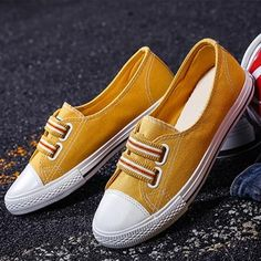 Buy 2 Get OFF Code : Item ID: Description: Heel height: Flat Occasion: Casual*sport Outsole material: Rubber Pattern type: Color Block Season: A Sneakers Fashion Outfits, Fashion Shoes, Women's Fashion, Cheap Sneakers Online, Oxford Shoes Heels, Loafers Outfit, Casual Heels, Comfy Shoes, Sneaker Brands