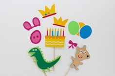 Birthday Peppa Pig Inspired Photo Booth Props 8 by TOASTEDProps