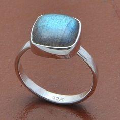LABRADORITE 925 STERLING SILVER DESIGNER RING 3.14g DJR7849 SZ-6.5 #Handmade #Ring