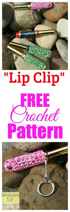 Keep your Lipsense from getting lost in your bag with a Crochet Lip Clip! Free crochet pattern :)