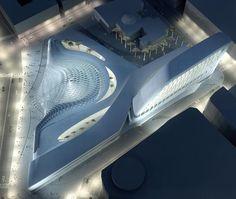 Syrian Parliament Project. Zaha Hadid Architects Movement Architecture, Zaha Hadid Architecture, Architecture Awards, Organic Architecture, Space Architecture, Classical Architecture, Futuristic Architecture, Amazing Architecture, Contemporary Architecture