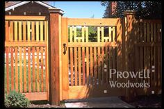 Arts and Crafts Style Fences | he Garden Fence & Gates in Marin County, California--viewed from ...