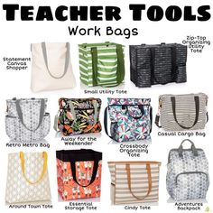 Something teachers will use for years! Work bags that will make you HAPPY! Something teachers will use for years! Work bags that will make you HAPPY! Thirty One Organization, Organizing Utility Tote, Tote Organization, Tote Storage, Teacher Bags, Teacher Tools, Teacher Gifts, Teacher Clothes, Teacher Resources