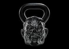 Зомби-гири сделаны из чугуна, отлитого с оригинальных скульптурных форм, разработанных дизайнерами марки. Спортивные снаряды от Onnit доступны в привычных весах - 8, 16, 24 и 32 кг.