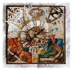 'Time Flies' card using Tim Holtz inpiration