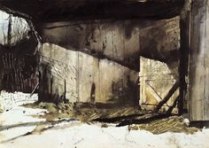 Winter Light – Andrew Wyeth – Presentd to Robert Frost on His 80th Birthday