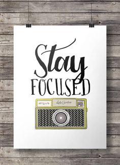 Stay FocusedJahrgang Kamera druckbare Wandkunst  von SouthPacific