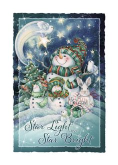 Bergsma Gallery Press :: Products :: Holiday - Occasions :: Christmas :: Christmas Cards :: 'Star Light, Star Bright' Holiday Greeting Card