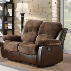 @Overstock - Coleford Coffee Double Reclining Loveseat - The reclining Coleford Collection utilizes release mechanism that with a gentle pull sends you straight into the comfort zone. This seat blends together microfiber and vinyl fabric with overstuffed arms.   http://www.overstock.com/Home-Garden/Coleford-Coffee-Double-Reclining-Loveseat/7252382/product.html?CID=214117 $471.59