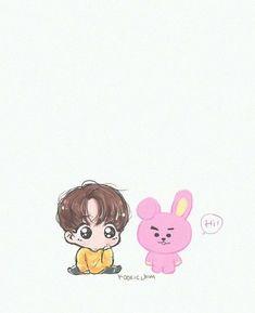Jungkook x Cooky Bts Jungkook, Jungkook Fanart, Fanart Bts, Bts Chibi, Dibujos Cute, Bts Drawings, Fan Art, Bts Fans, Bts Wallpaper