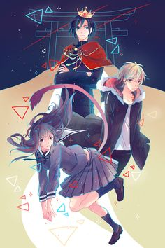 "Noragami ~~ Fanart by onedayfour on deviantART(i see yatos face and i just think ""how did they get him to be so serious?"""