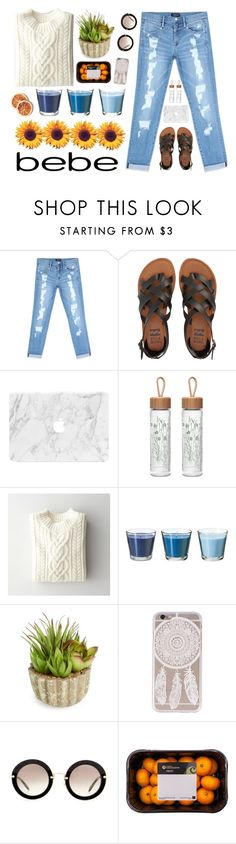 """""""All Laced Up for Spring with bebe: Contest Entry"""" by justpaule ❤ liked on Polyvore featuring Bebe, Billabong, CO, Steven Alan, Allstate Floral, Miu Miu and alllacedup"""