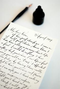 I always love great penmanship. Calligraphy is always a mystery to me as I can't seem to every get it right! Calligraphy always reminds me of my mother.
