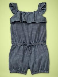 This little Jean romper kills me. When I get rich Sienna and the rest of my kids will live in Baby Gap and Jcrew. They have the cutest kid clothes!