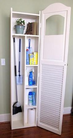 Creative By Cristina Broom Storage Laundry Room