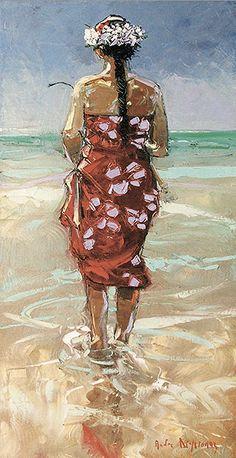 Andre Deymonaz  Tahitienne (40x80)