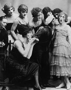 """orsons: """" New York, 1919: James Cagney (third from upper left) in drag for his first stage role in the play Every Sailor """""""