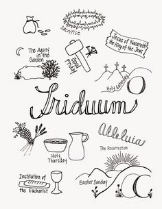 What the Triduum Looks Like: great printable to use with kids during Holy Week to talk about the most important three days of our church year.  Free printable available in black and white and color.
