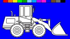 Learn colors with excavator | Construction truck coloring pages | Fun co...