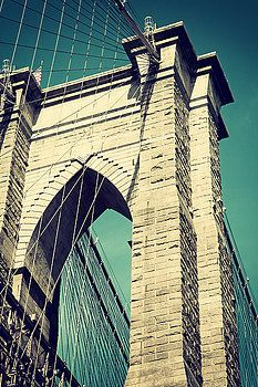 Brooklyn Bridge Pillar  by Jaroslav Frank