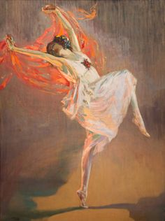 Anna Pavlova by John Lavery. Such a beautiful painting.