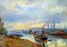 Barges at Rouen - Albert Lebourg 1903 Impressionism Musée d'Orsay, Pari Impressionist Landscape, Landscape Art, Saint Romain, City Sketch, Rouen, Small Art, France, Van Gogh, Les Oeuvres